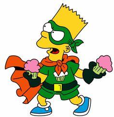 Bart Simpson is Cupcake Kid