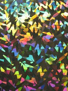 like rainbow metallic confetti