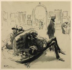 Feliks Topolski - The Royal Academy: Varnishing Day (1939)