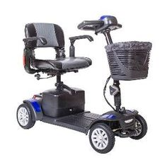 Drive Medical Spitfire Ex Travel 4Wheel Mobility Scooter 21 Ah Batteries *** Detailed information can be found by clicking on the VISIT button