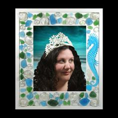 Mermaid Seahorse Sea glass Picture Photo Frame by InArtStudio2, $69.99