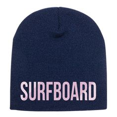 Surfboard Embroidered Knit Beanie