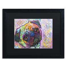 Dean Russo 'Pug Love' Matted Framed Art