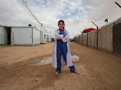 Refugee girls dress-up as what they want to be when they grow-up in 'Vision not Victim' photography project Syrian Refugees, Girls Dress Up, People In Need, When I Grow Up, Photography Projects, Girls Dream, Street Photography, Growing Up, Photoshoot