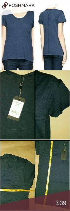rag & bone tee shirt rag & bone size XS pocket tee shirt light weight 100% cotton darker blue rag & bone Tops Tees - Short Sleeve