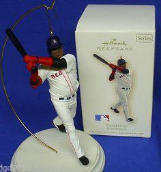 Hallmark Baseball Ornament At The Ballpark #2 2007 David Ortiz Boston Red Sox