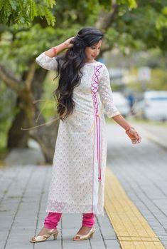 Kurti Sleeves Design, Kurta Neck Design, Sleeves Designs For Dresses, Dress Neck Designs, Stylish Dress Designs, Salwar Designs, Simple Kurti Designs, Kurta Designs Women, Kurti Designs Party Wear