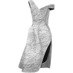 Maticevski Tantric Cocktail Dress ($1,320) ❤ liked on Polyvore featuring dresses, white v neck dress, off the shoulder dress, white dress, white sleeveless dress and v neck dress