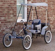 1-Person, 4-Wheel Cycle Car Quadricycle | Rhoades Car