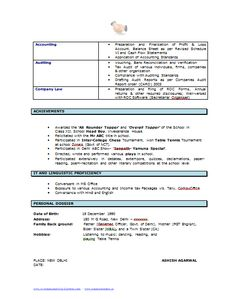 B Tech Resume Format Page   Career    Cv Template