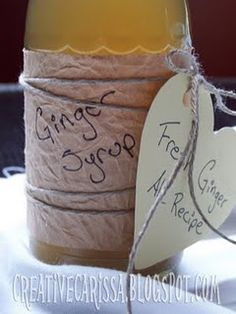 Homemade Ginger Syrup and Ginger Ale (use no cal sweetener, like stevia or...)0000