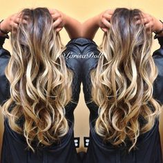 (No filter) Dark warm brown base ombre'd to light beige blonde highlites with balayaged highlites. Haircut