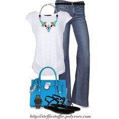 Summer Blue MK Satchel