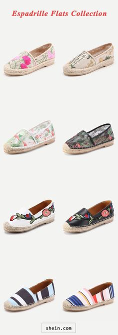 Espadrille Flats Collection