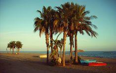 Carboneras et vue sur l'Isla San Andres, Costa de Almeria - Andalousie (Espagne)