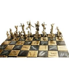 Avian Rumble, bronze chess set by Nick Davis - you have to see up close to believe. Love it. #adshow2012