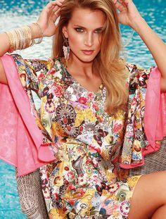 Vestido Plamer Flor Primavera - Verano 2015
