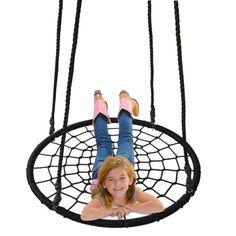 "40"" Tire Spider Web Swing 71"" Nylon Rope Swivel Tree Net Assembled,600 lbs Max   eBay"