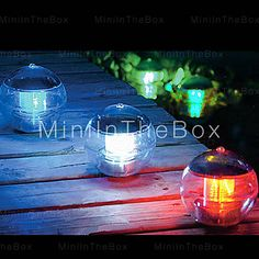 [USD $ 18.99]  - Color Changing Solar Power LED Floating Light Ball Lake Pond Pool Lamp