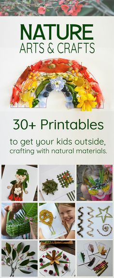 Nature arts and crafts - 30+ nature printables for nature art, outdoor classrooms and forest school activities