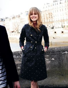 Polka dot trench.