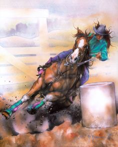 Barrel Racer by DanMcManis on DeviantArtYou can find Barrel racing quotes and more on our website.Barrel Racer by DanMcManis on DeviantArt Barrel Racing Saddles, Barrel Racing Horses, Barrel Horse, Cowgirl And Horse, Cowboy Art, Horse Love, Cavalo Wallpaper, Horse Riding Quotes, Horse Quotes
