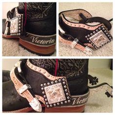 Custom spurs made by Eddie Harris for Victoria Harris. Someday I'll have custom spur! These are beautiful! Cowgirl Baby, Cowboy And Cowgirl, Cowgirl Boots, Spurs Western, Western Tack, Western Wear, My Horse, Horse Girl, Horse Tack