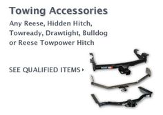 $10 Cash Rebate on Towing Accessories    FREE CASH on Auto Parts
