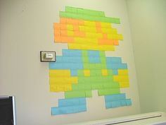 8 bit art with post-its! @April Heide-Kracik. This is what I was talking about last night :)