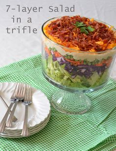 Seven-Layer Salad in A Trifle ...