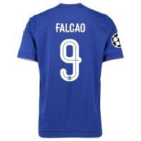 Chelsea FC 2015-16 Season UCL FALCAO #9 Home Soccer Jersey [C366]