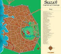 carte de Suzail, capitale du Cormyr
