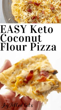 Coconut Flour Pizza Crust is incredibly delicious & the perfect base for all your favorite toppings. You can enjoy this pizza crust lwithout all the guilt. Low Carb Chicken Recipes, Healthy Low Carb Recipes, Low Carb Dinner Recipes, Keto Recipes, Cooking Recipes, Keto Foods, Keto Dinner, Pizza Recipes, Crockpot Recipes