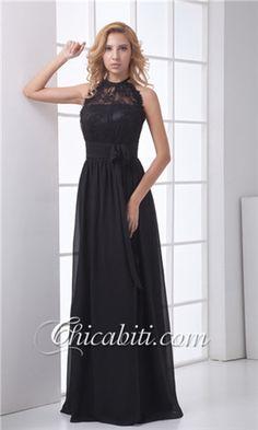 Vestito Matrimonio Elegante Lungo Nero ACM010