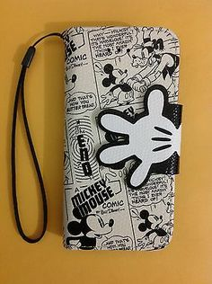 Disney - Mickey Gloves PU Synthetic Leather Wallet Case Cover for iPhone 5/5C/5S
