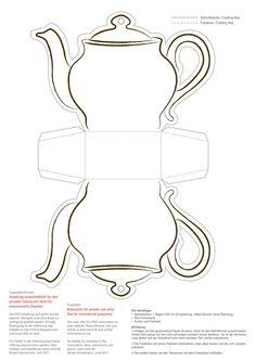 Paper Crafts – Teapot, Teacup and Saucer … | Kid, Paper ...