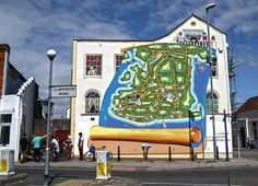 This isn't the original mural (muriel, lol!) in Southsea, but it was completely redone in 2012 - see this report, that was in the local paper. Public Hotel, Local Paper, City Slickers, Portsmouth, Northern Ireland, Hampshire, Where To Go, The Locals, Murals