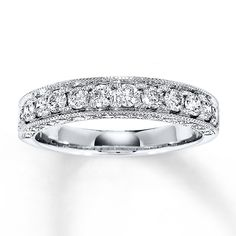 Jewelry & Watches Capable 2 Carat Black Diamond Bezel Full Eternity Anniversary Band Ring 14k White Gold 2019 Official