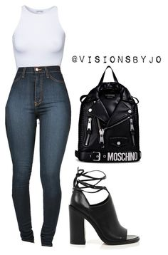 """""""Untitled #1136"""" by visionsbyjo on Polyvore featuring Estradeur, River Island and Moschino"""
