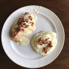 Parmesan Crusted Chicken with Bacon Cream Sauce | Keto In Pearls | A Ketogenic Lifestyle Blog