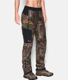 Women's UA Super Fleece Mid Season Pants, REALTREE AP-XTRA, zoomed image