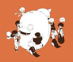 「万事屋と仔攘夷と最後に神威」/「やぶん」の漫画 [pixiv]