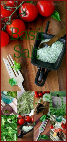 Basil Salt, infuse the flavor of summer in your salt for your tomato recipes this winter with an easy recipe! #diy #foodgift