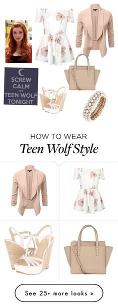 """""""Get the look:Lydia Martin"""" by ezikegirl0103 on Polyvore featuring Jessica Simpson, Anne Klein and Salvatore Ferragamo"""