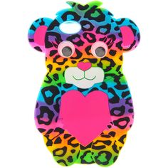 Rainbow Leopard Print Bear Phone Case - iPhone 5/5S , iPhone 5/5S ,... ($15) ❤ liked on Polyvore featuring accessories, tech accessories, phone cases, cases, phone and tech