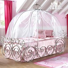 Beds:Wrought Iron Princess Bed Canopy Bed Design Disney Princess Canopy Bed Organza Mosquito Net Amazing Design Of The Princess Iron Princess Bed Wrought Iron Cinderella Carriage Bed Iron Princess Bed