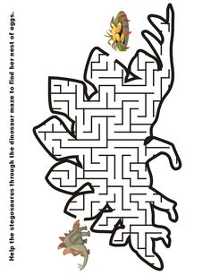 Dinosaur Maze in the shape of a Long Neck Dinosaur. Kids love mazes, and printable dinosaur mazes also help develop fine motor skills. Dinosaurs Preschool, Dinosaur Activities, Dinosaur Crafts, Preschool Activities, Dinosaur Dinosaur, Dinosaur Images, Vocabulary Activities, Long Neck Dinosaur, Free Printable Puzzles