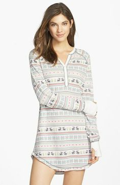 I want this sooooo sooooo sooooo bad!!!! SM | PJ Salvage Brushed Thermal Sleep Shirt | Nordstrom