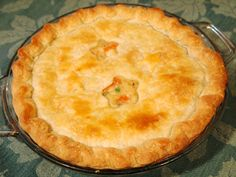 comfortably domestic chicken pot pie