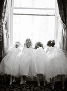 girls in white dresses...